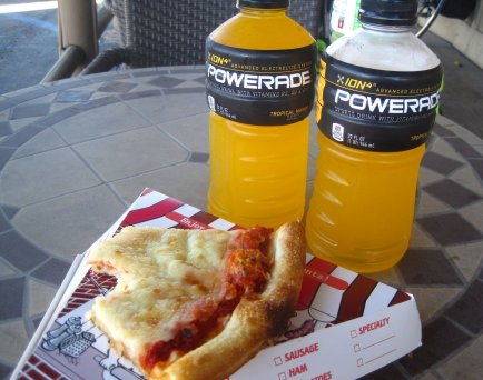 Pizza and Powerade