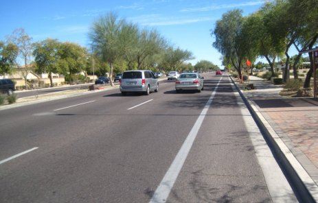 Bicycle Lane in Phoenix AZ