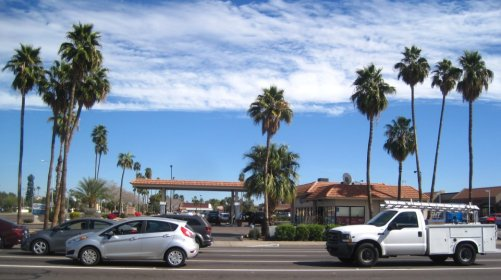 Palm Trees Gas Station