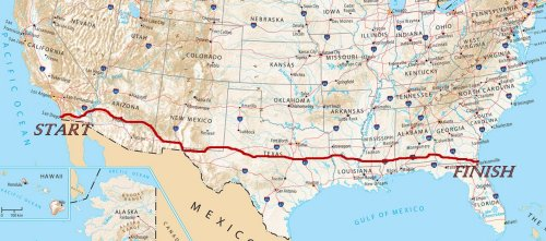 Bike Across USA Route