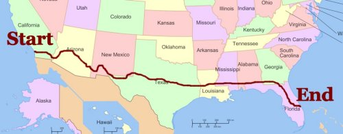 Bike Across America Route